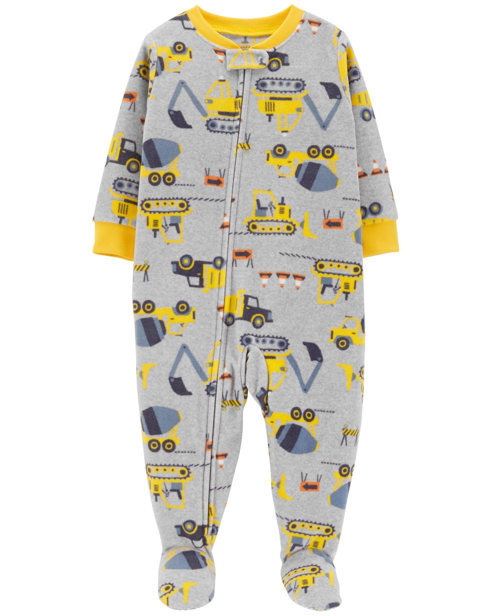4d497b1a5209 1-Piece Construction Fleece PJs