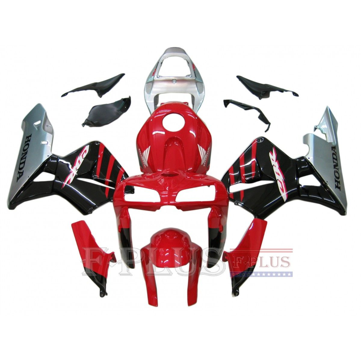 Aftermarket Fairings For Honda CBR600RR 05-06 Red Black  ABS Kits 2005 2006