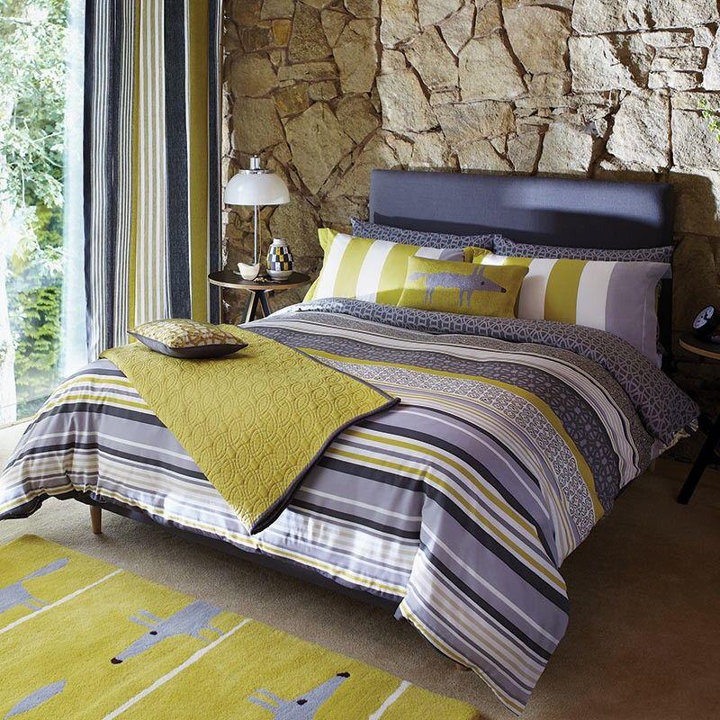 Lace Stripe Kingsize Duvet Cover Striped Duvet Covers Striped Duvet Funky Bedding