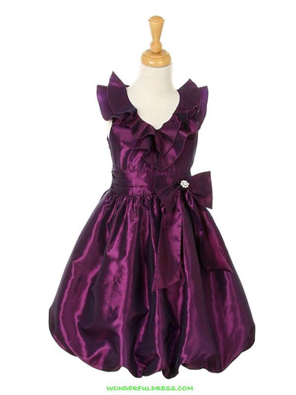 1300ad990e53 CC - Taffeta Ruffled Bubble Party Dress or Flower Girl Dress ...