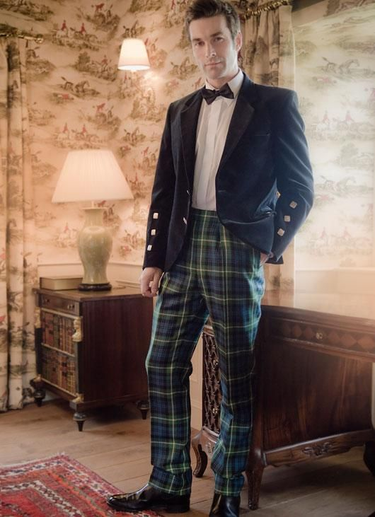 a590e2911b65 Kinloch Anderson Tartan Trousers - Straight Waistband - Tartan Trousers - Highland  Dress - Mens
