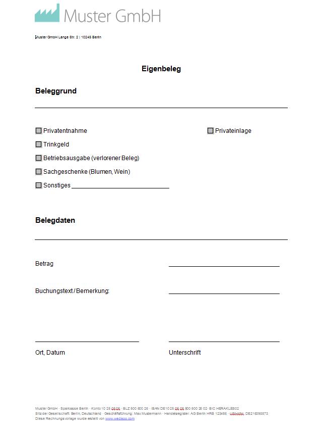Buchungsbeleg Vorlage Kostenlos In Excel 9