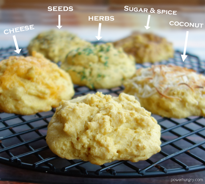 Chickpea Flour Drop Biscuits Vegan Grain Free Power Hungry Recipe Drop Biscuits Dairy Free Recipes Food