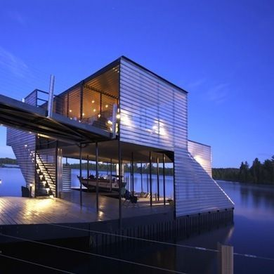 Modern Boathouse Floating Architecture House Architecture