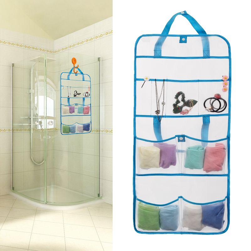 Shower Caddy Portable Travel Use Bathroom Wall Hanging Mesh Bag Child Bath Storage Net Suction