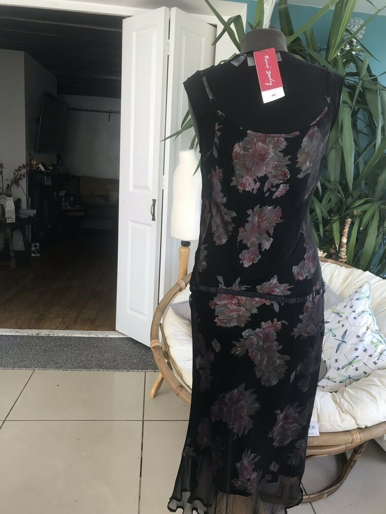Rene Dehry Beautiful New Dress Size 12 14 Fashion Clothing Shoes Accessories Womensclothing Dresses Ebay Black Dresses Uk Dresses Black Evening Dresses