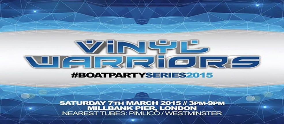 Saturday 7th March 2015 // 3PM - 9PM Millbank Pier, London SW1P Nearest Tubes: Pimlico / Westminster  Lineup: BK Ting Ed Real b2b Danny Gilligan Wayne Smart Brad Thatcher Keith Powders