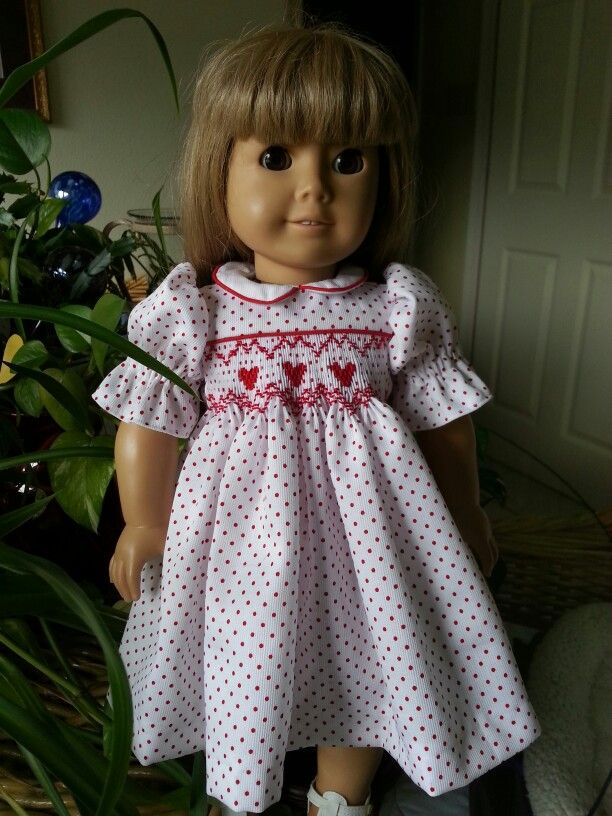 Heart design for my American Girl Doll   Crosseyed Cricket Smocking Designs
