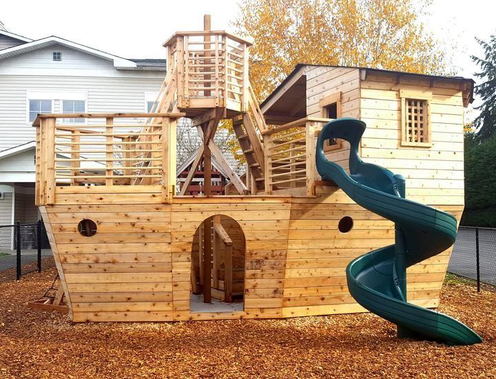 Davy Jones' Locker Pirateship Plan Backyard playhouse