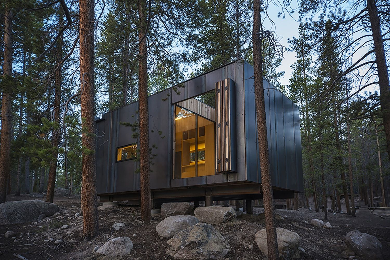 sheets denver colorado building usa cabins steel rolled in housing cobs architecture col students clad workshop micro dezeen of tiny build en outdoors hot