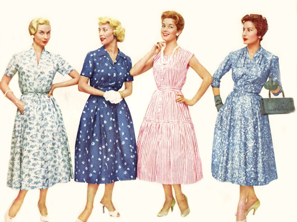 dress mix | 1950's Fashion Mix | Pinterest