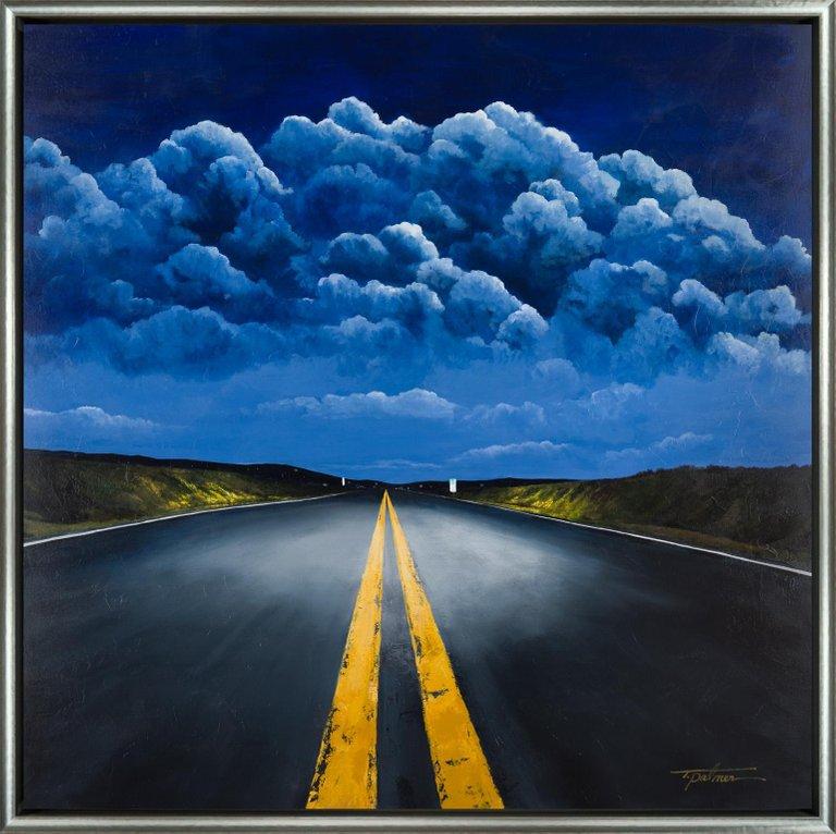 Tina Palmer Landscape Painting Night Traveler Landscape Paintings Landscape Painting