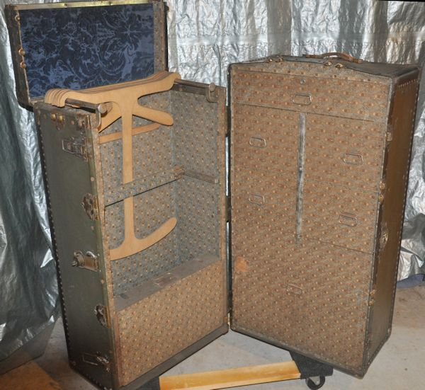 An All Original Totty Wardrobe Trunk. Made In Petersburg, VA Sometime In  The 1930s