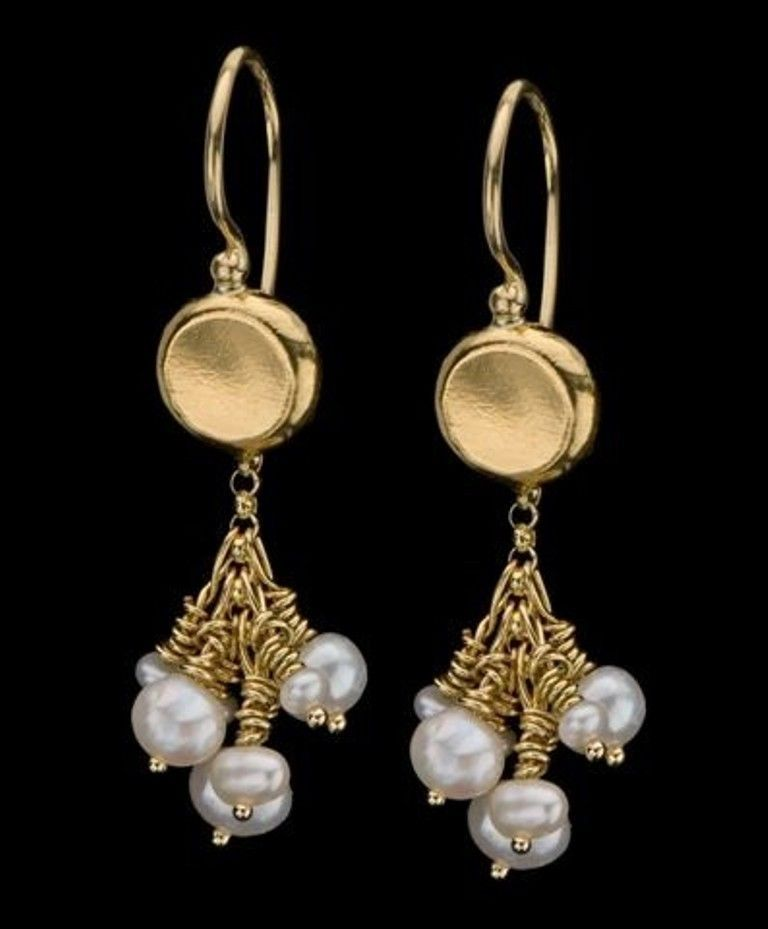 22k solid gold pearl earrings cluster of pearls chandelier earrings 22k solid gold pearl earrings cluster of pearls chandelier earrings wedding 22 k aloadofball Images