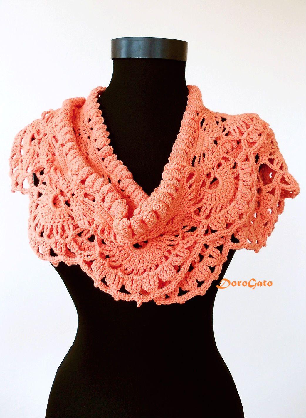 Crochet scarf pattern, crochet shawl pattern, scarf crochet PATTERN ...