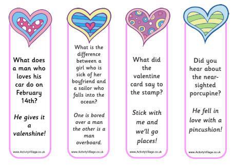 15 Free Valentine S Day Bookmark Printables 4th Grade Ict