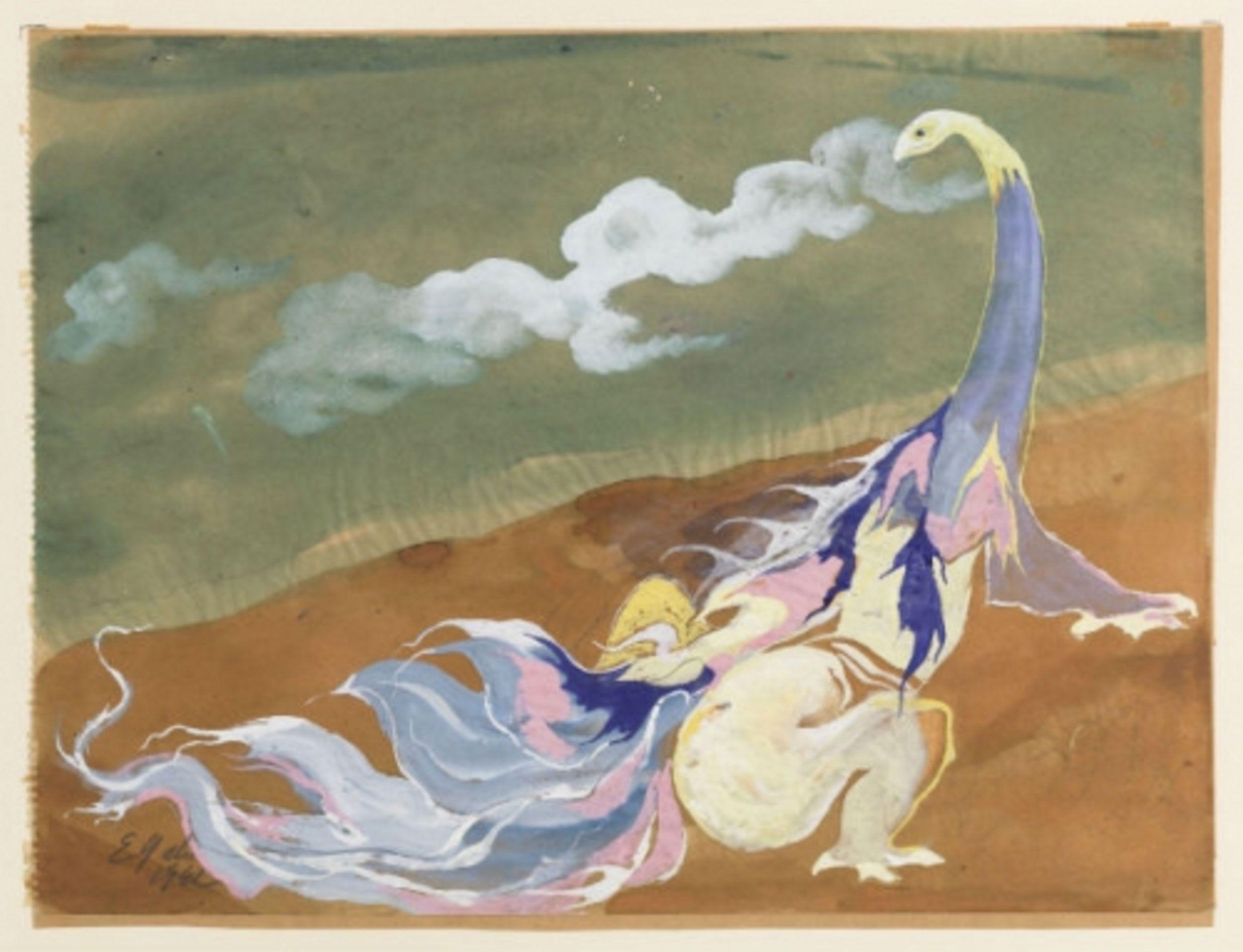 Eugen Gabritschevsky 1942 Sans Titre Gouache Et Aquarelle