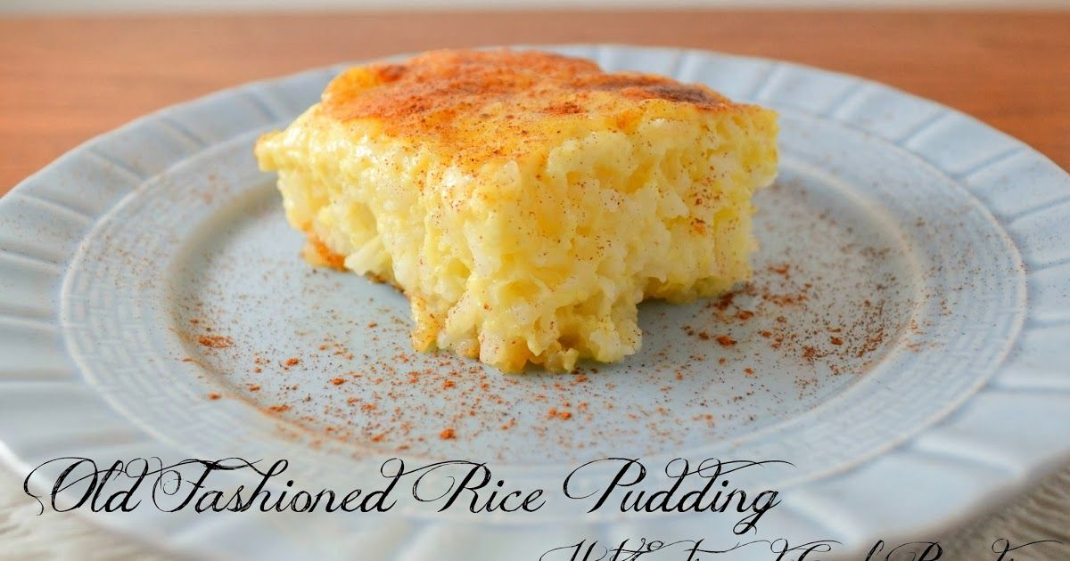 Old Fashioned Rice Pudding In Water Bath
