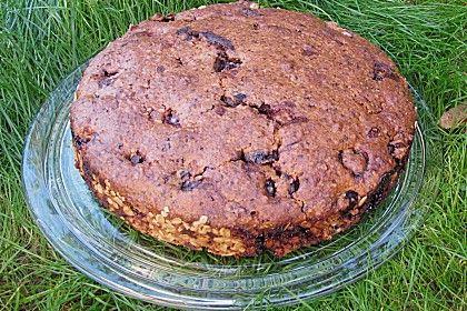 Sauerkirsch Schokoladen Haferflocken Kuchen Kuchen Kuchen