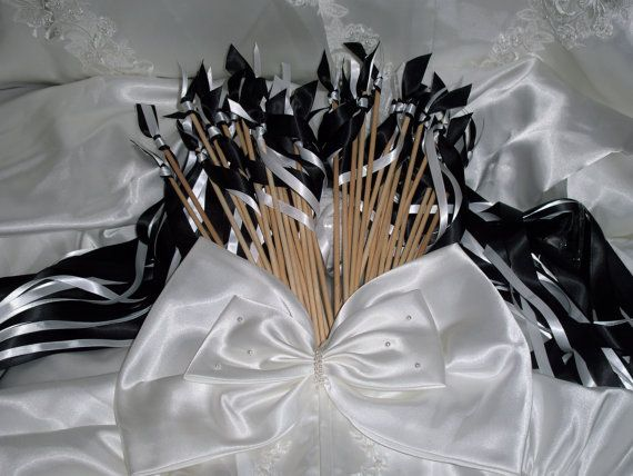 Ribbon wedding wands  Qty 100 by HangingMemories4ever on Etsy, $100.00