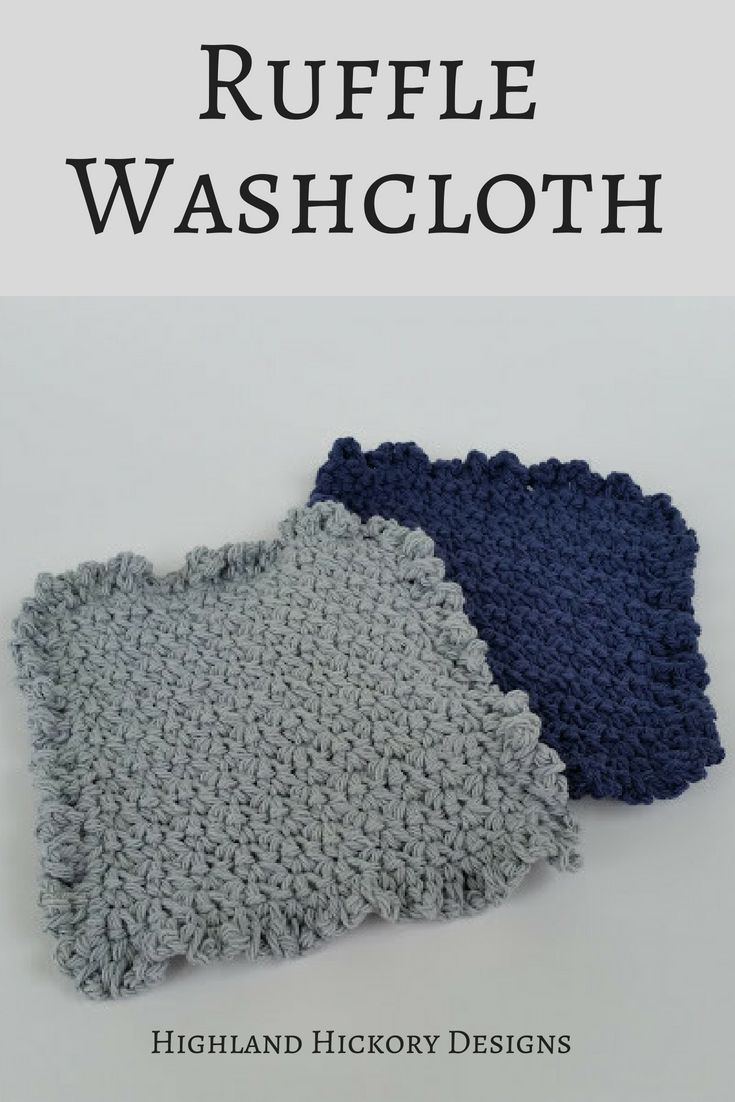 Ruffle Washcloth - Free Crochet Pattern   CrochetHolic - HilariaFina ...