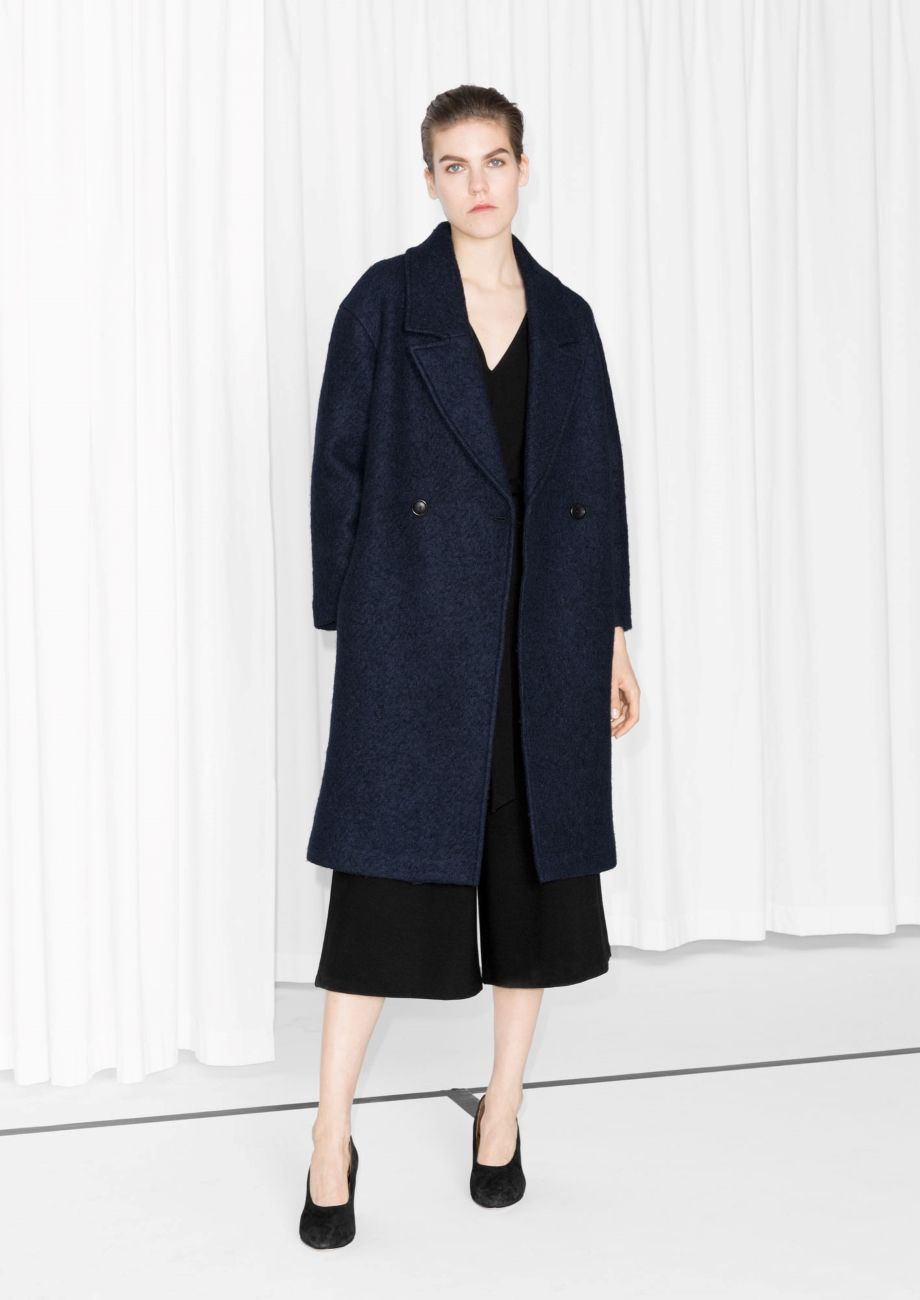 Other Stories Wool Blend Coat Dark Blue Wool Blend Coat Gray Wool Coat Coat [ 1300 x 920 Pixel ]