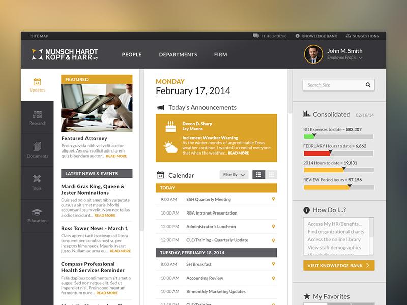 Intranet Landing Page Sharepoint Design Corporate Website Design Homepage Design