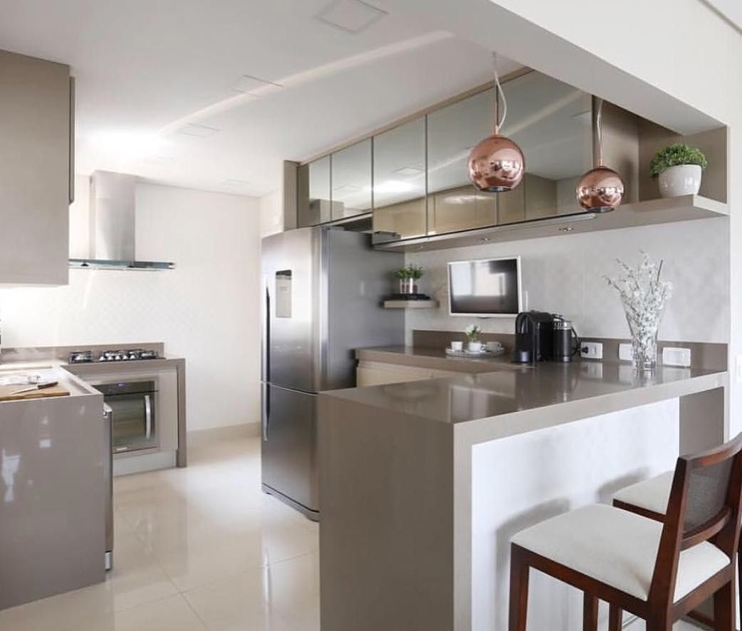 Cozinha Compacta E Integrada Sala Adorei A Escolha Das Cores  -> Sala E Cozinha Mesmo Ambiente