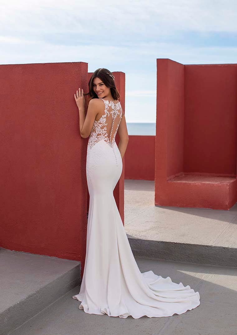 Mermaid Wedding Dress In Crepe With Straps Okapi Wedding Dresses Lovely Wedding Dress Dresses [ 1076 x 761 Pixel ]