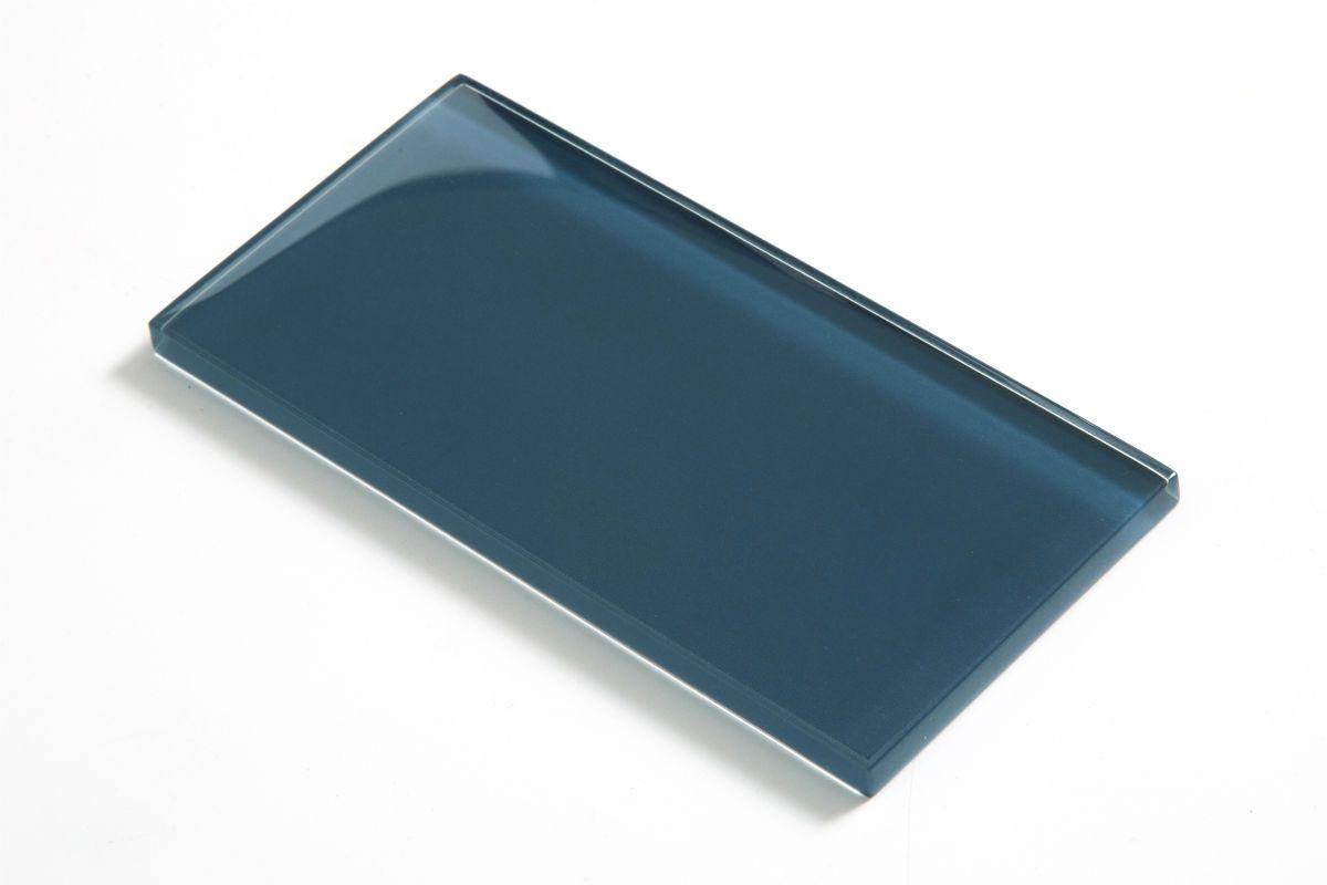 Petrol Blue Juice Glass Metro Tiles   Mobil home/ stacaravan ...