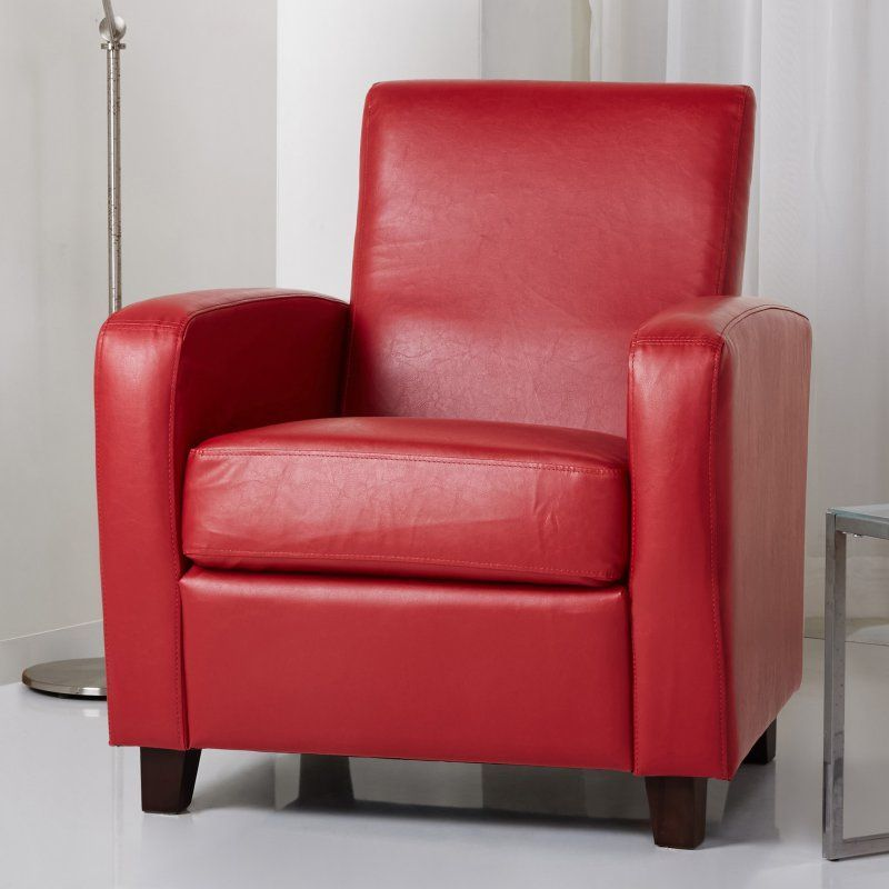 Abbyson Living Capella Bonded Leather Club Chair - AD-PCY-52S-P1-IVY ...