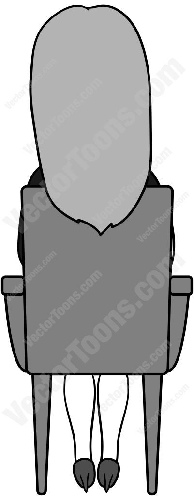 Back View Of A Woman With Long Hair Sitting In A Chair Long Hair Styles Chair Cartoon Clip Art