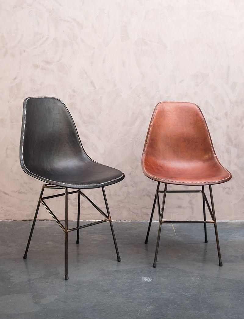 Design lederen eetkamerstoelen - Leather dining chairs - handmade ...