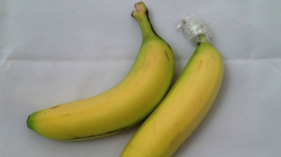 Separate your bananas and wrap them in cling film to keep them fresher, longer.