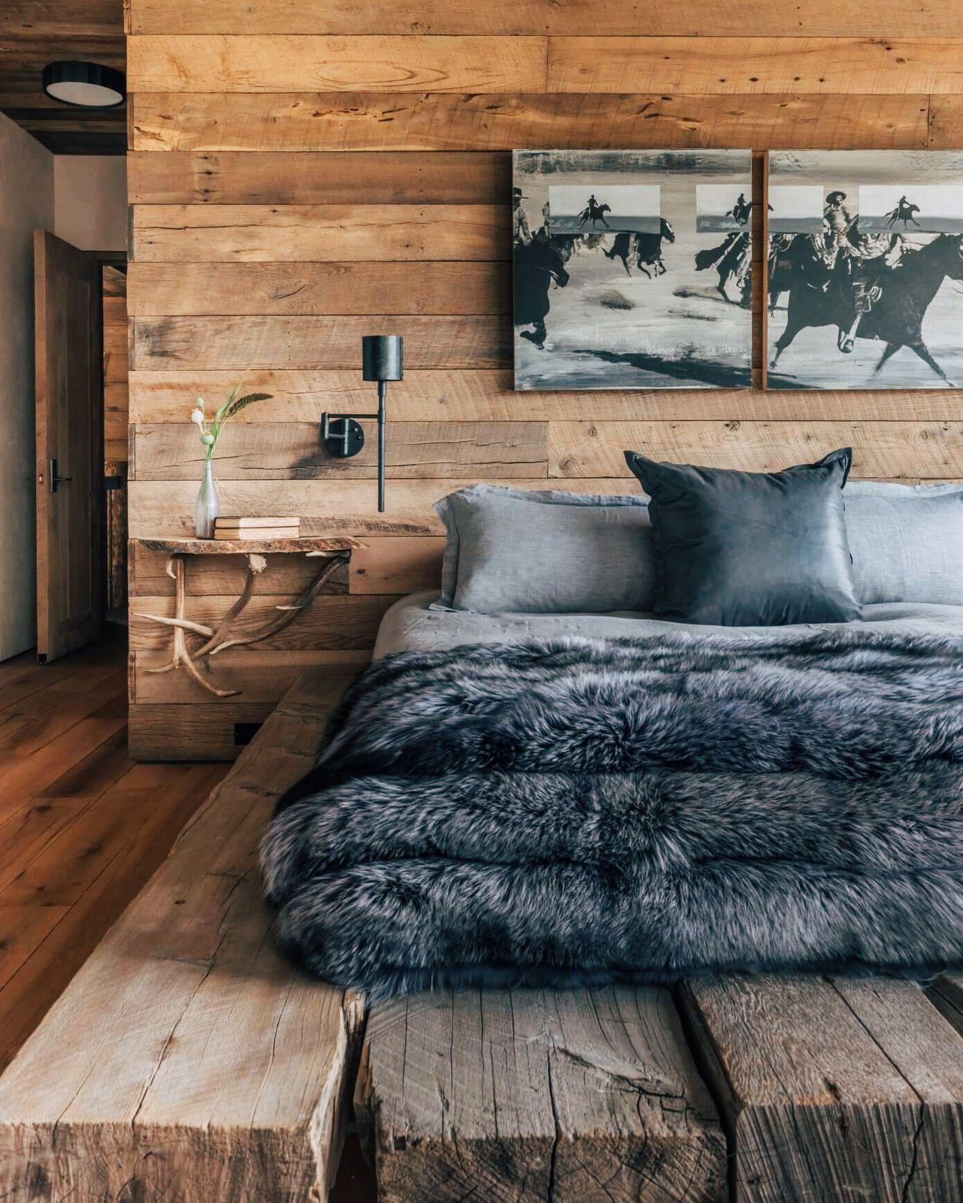 Foxtail House wood bedroom  Rustic bedroom design, Rustic bedroom