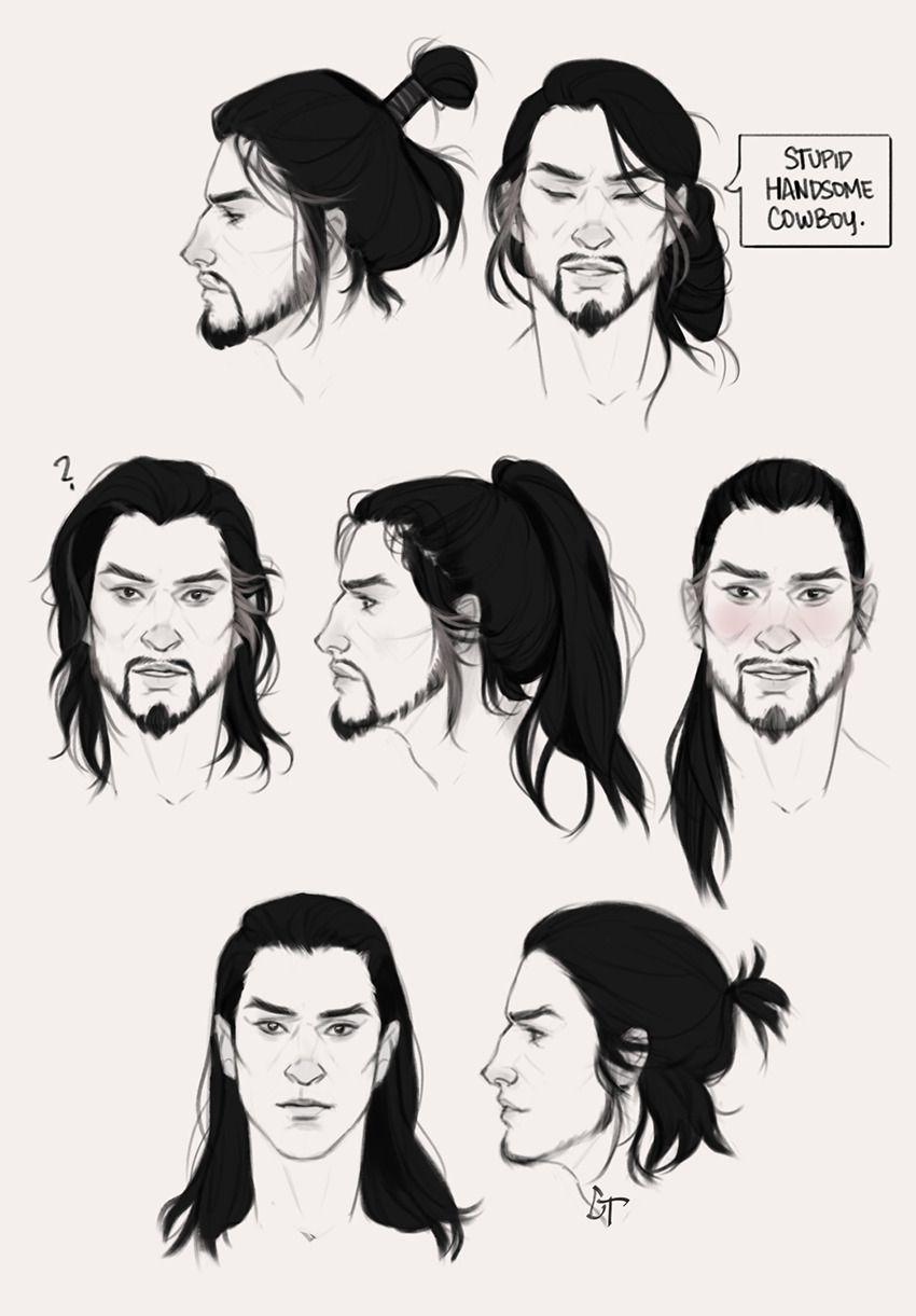 t stop drawing long hair