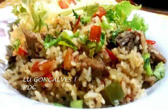arroz carreteiro sobras de churrasco