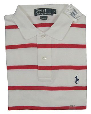 NEW! Polo Ralph Lauren Striped Polo Shirt! Classic Fit *Smooth Interlock Cotton*