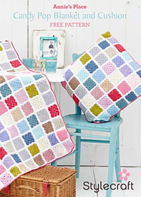 Free Pattern - Granny Square Blanket & Cushion ...