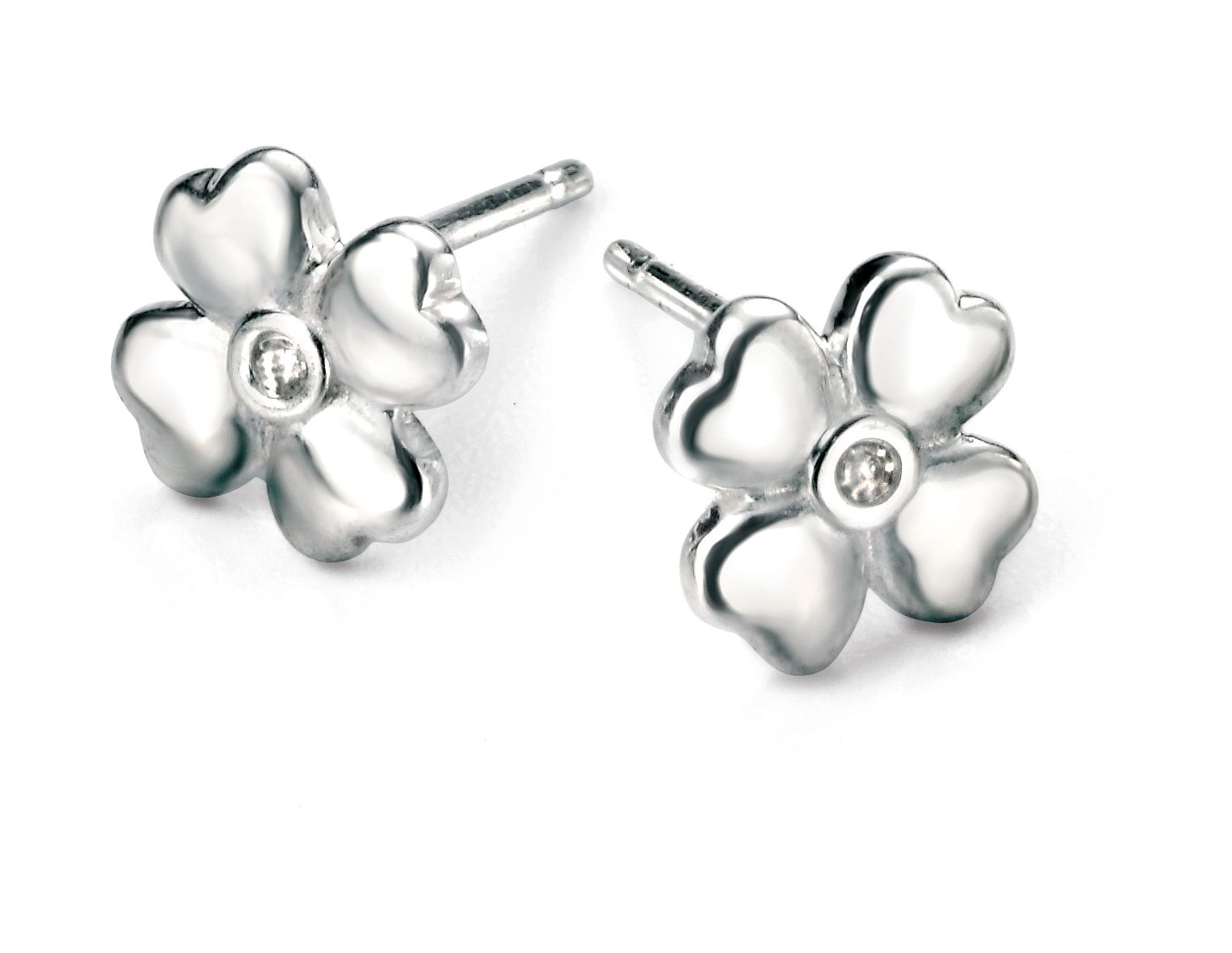 D for Diamond Clover Stud Earrings v5NT9L8Dc6