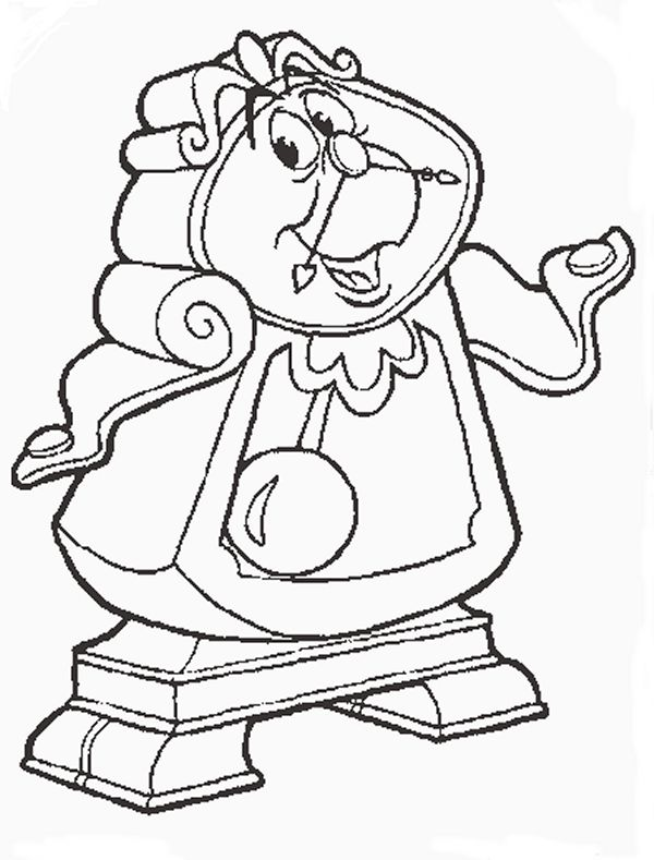 Cogsworth Jpg 600 789 Disney Coloring Pages