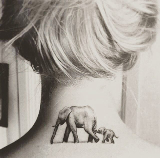 21 beautiful elephant tattoos that will inspire you tattoos pinterest tatouage tatouage. Black Bedroom Furniture Sets. Home Design Ideas