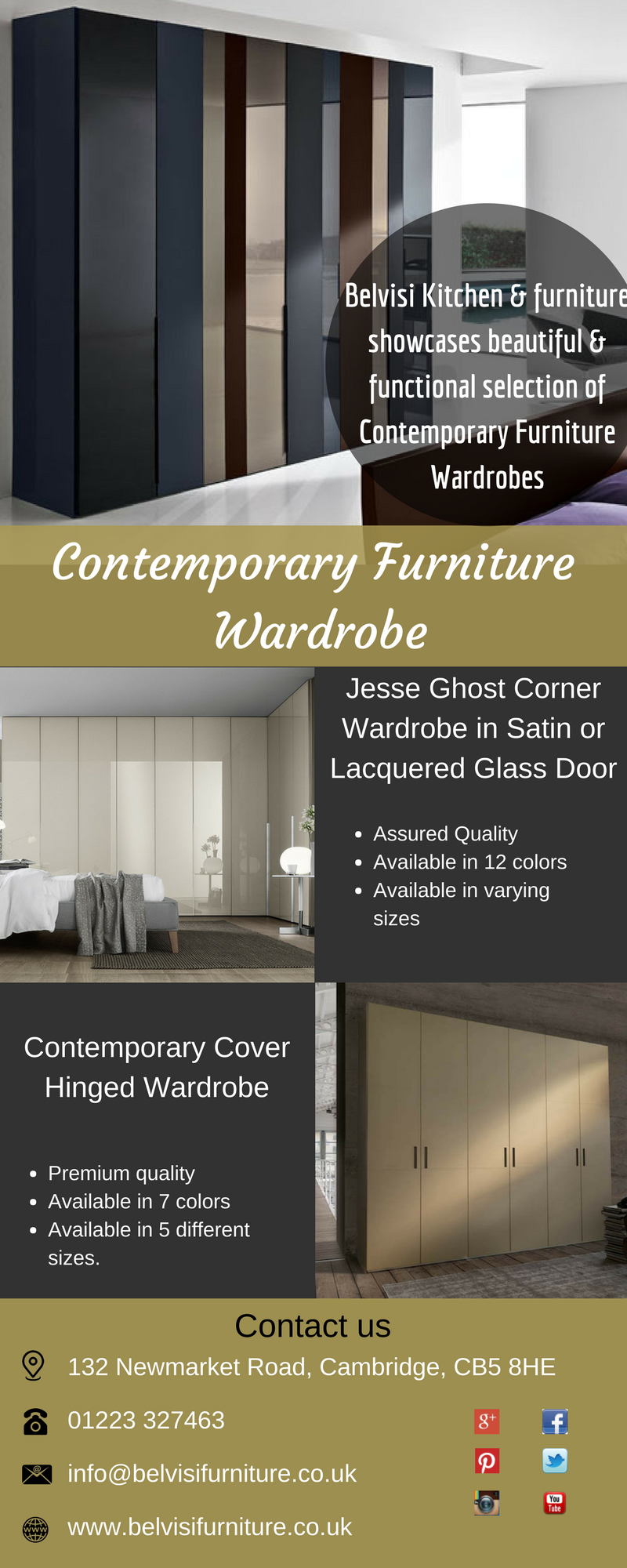 Contemporary furniture wardrobes are available here at
