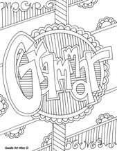 Language Arts Coloring Pages from Classroom Doodles. Great