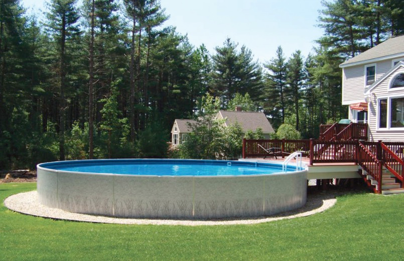 Beauty On A Budget Above Ground Pool Ideas Pool Landscaping In