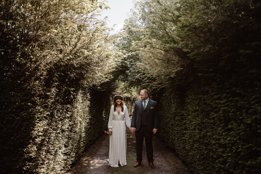 Alexandra Grecco bride Irish Forest Wedding