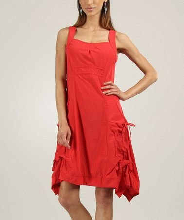 c1ddc0536d9 Love this Red Side-Tie Handkerchief Dress on  zulily!  zulilyfinds ...