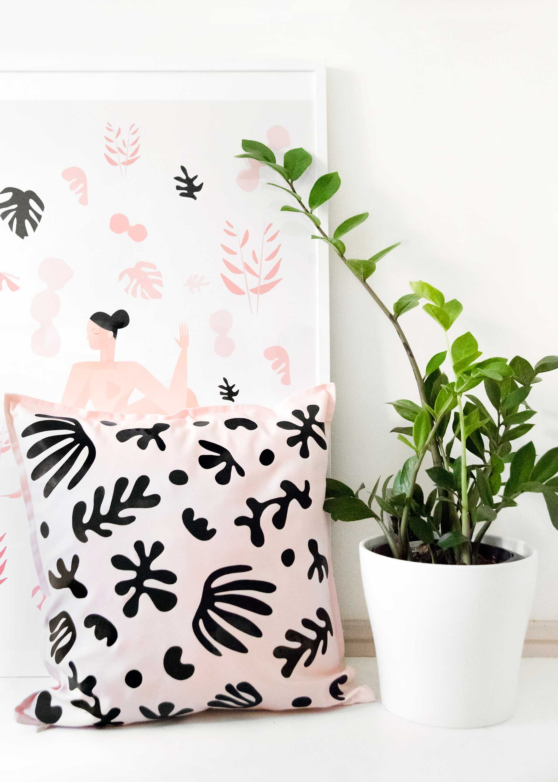 Diy matisseinspired cushion cover on curbly