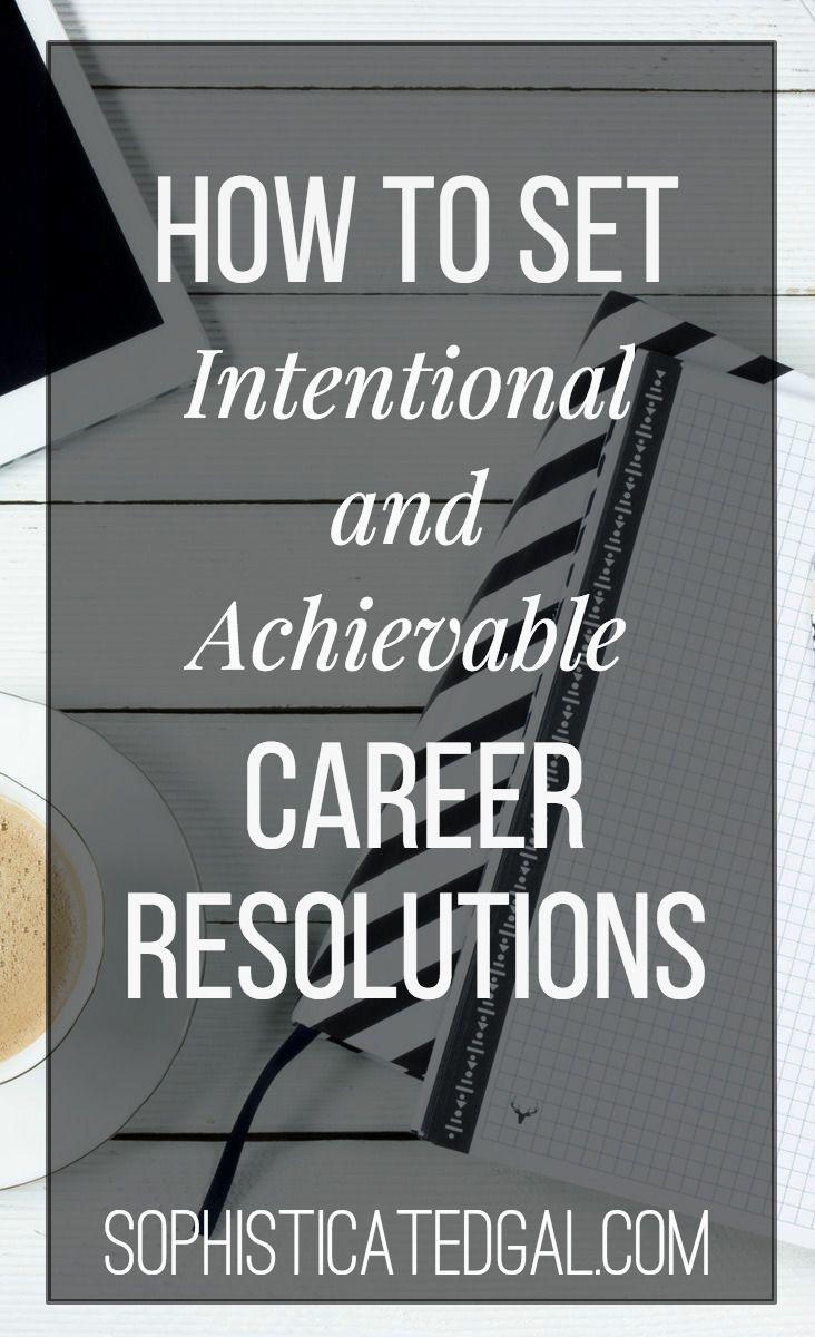 how to set career goals