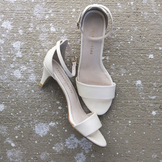 Comfortable Low Heel Wedding Shoes: Ladies Ivory Low Heel Wedding Shoes. Low Heel Bridal Shoes